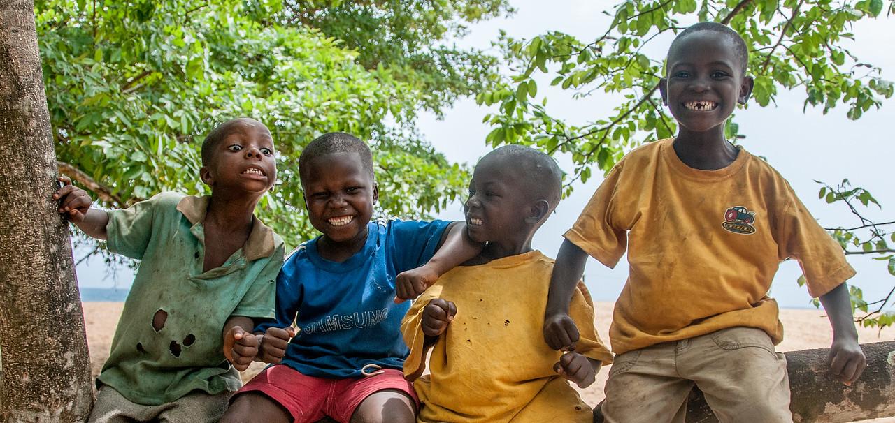 Local kids goofing around in Freetown, Sierra Leone
