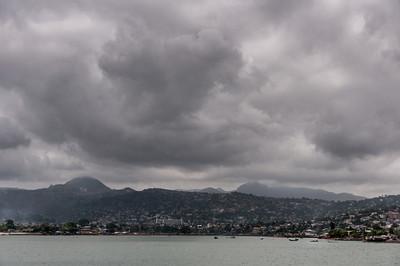 Panorama of Freetown in Sierra Leone