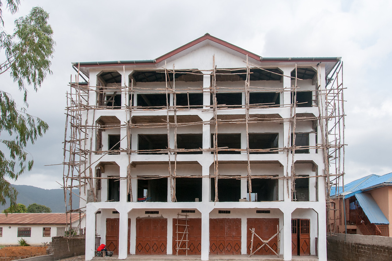 Construction in Freetown, Sierra Leone