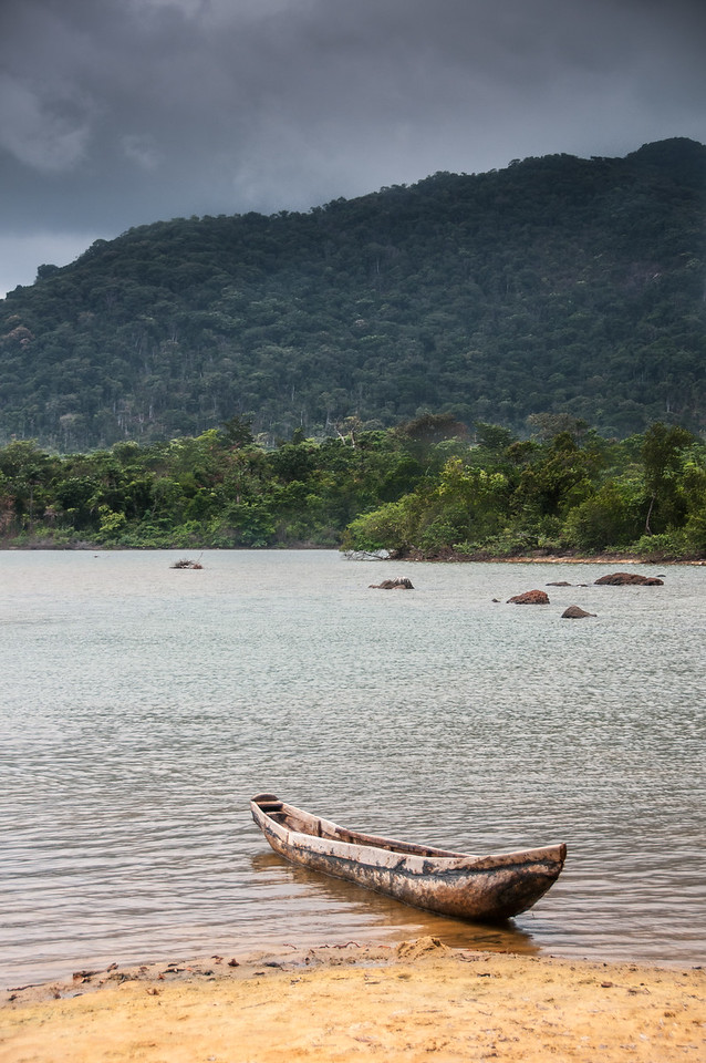 Small boat on the shore - Freetown, Sierra Leone