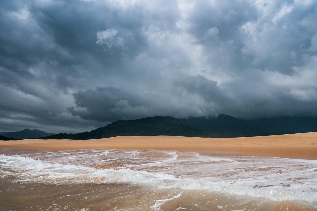 Pink sand beach in Freetown, Sierra Leone