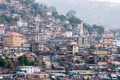 Skyline in Freetown, Sierra Leone
