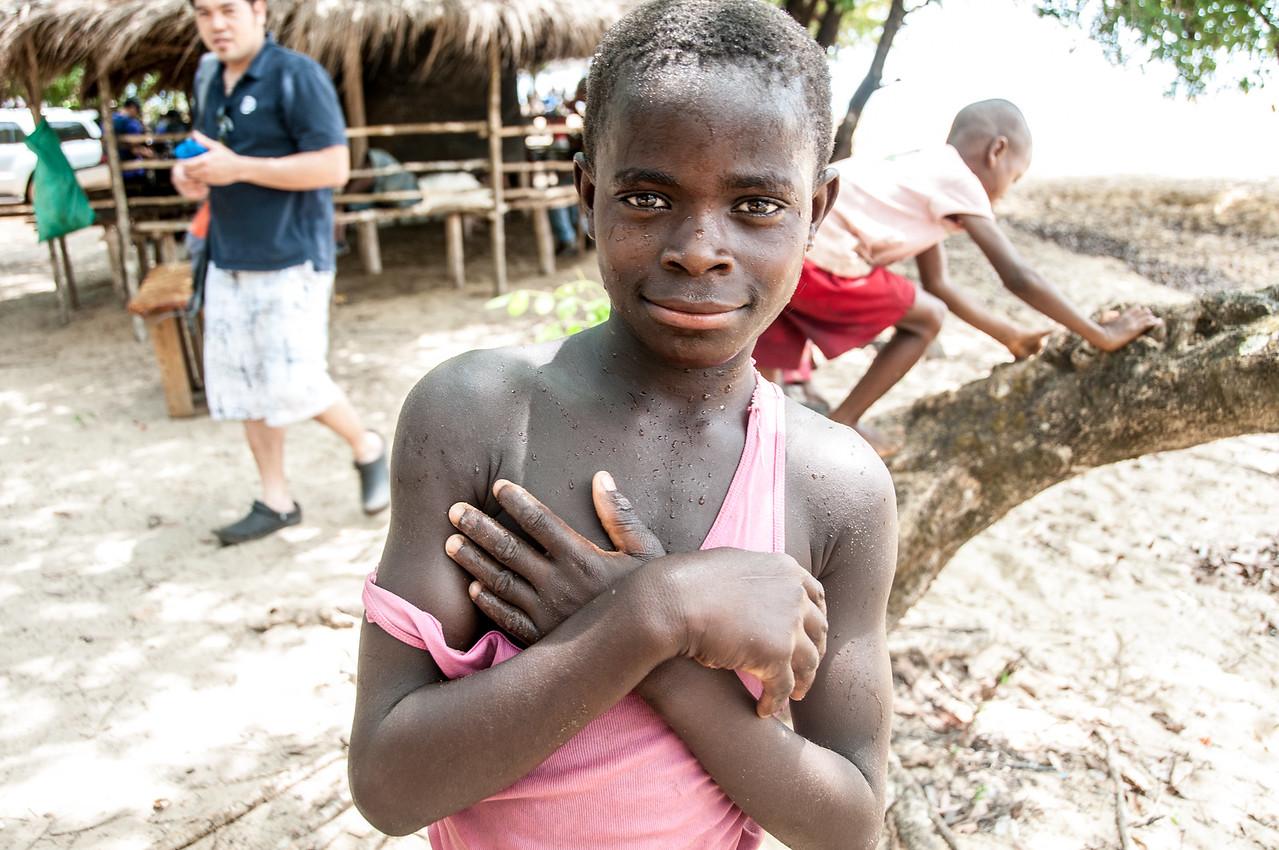 Profile of kid in Freetown, Sierra Leone