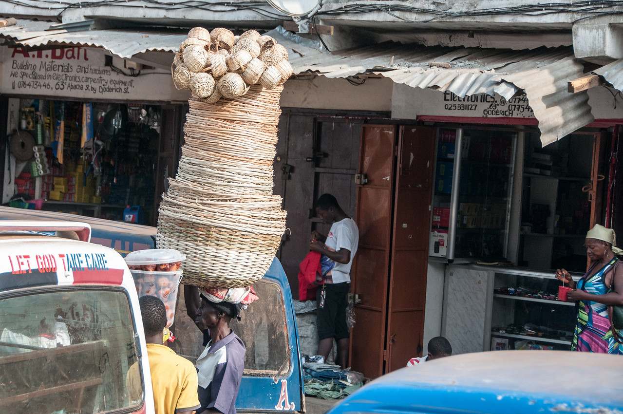 Market in Freetown, Sierra Leone