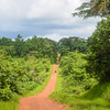 The road to the Liberian border