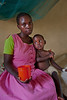 Inpatient malaria treatment. Mother and child. Ukwala, Kenya