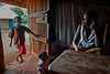 At home, mother and children. HIV rural health initiative, Matibabu Foundation. Ugenya, Kenya.