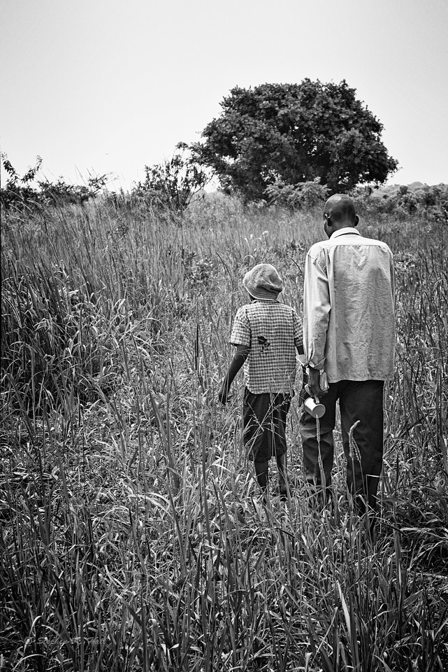 Rejuvenated by his bath and Dad's caring attention, hand in hand with his father Samuel sets off for the clinic and his uncertain future.