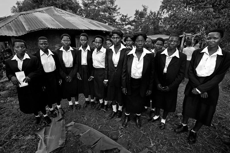 AIDS orphans, seamstress vocational school graduates, Jinja district, Uganda(Detail)