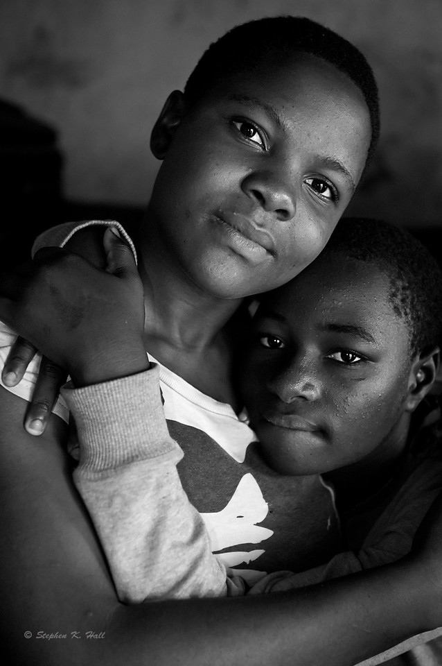 Friends.  Agape Children's Home for AIDS orphans. Mafubira, Uganda (Clincher)