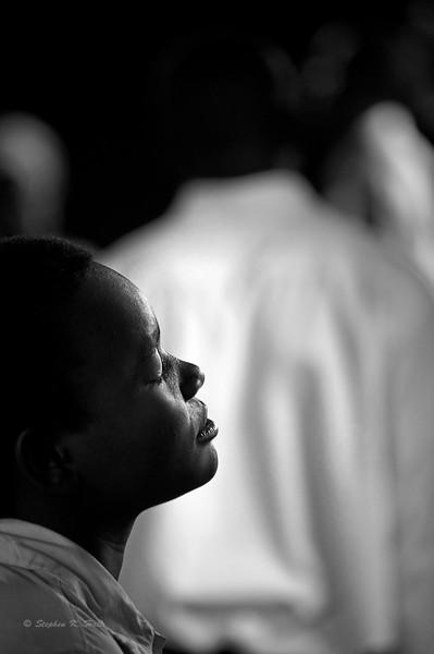 Giving thanks. Sunday church service. Agape Children's Home for AIDS Orphans. Mafubira, Uganda (Extra)