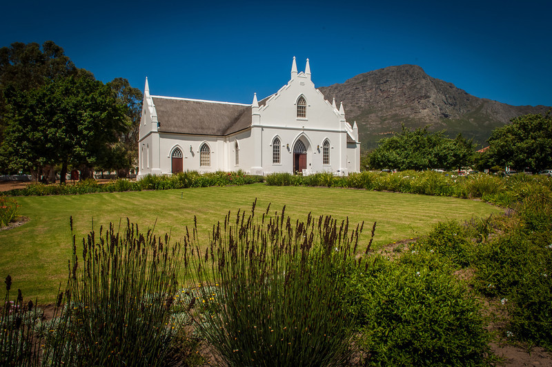 Cape Dutch architecture in Franschhoek