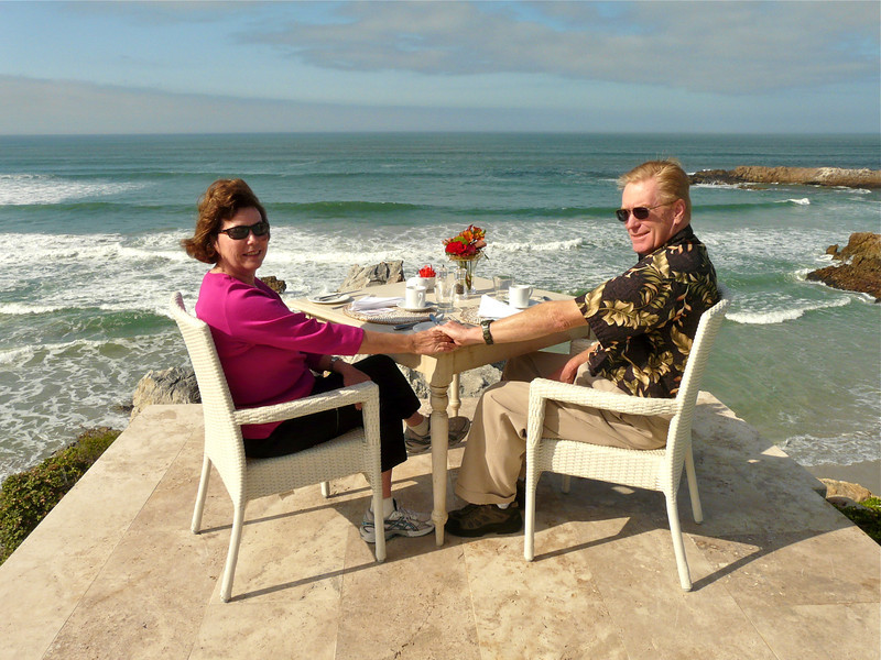 Romantic breakfast at Birkenhead House, Hermanus, South Africa