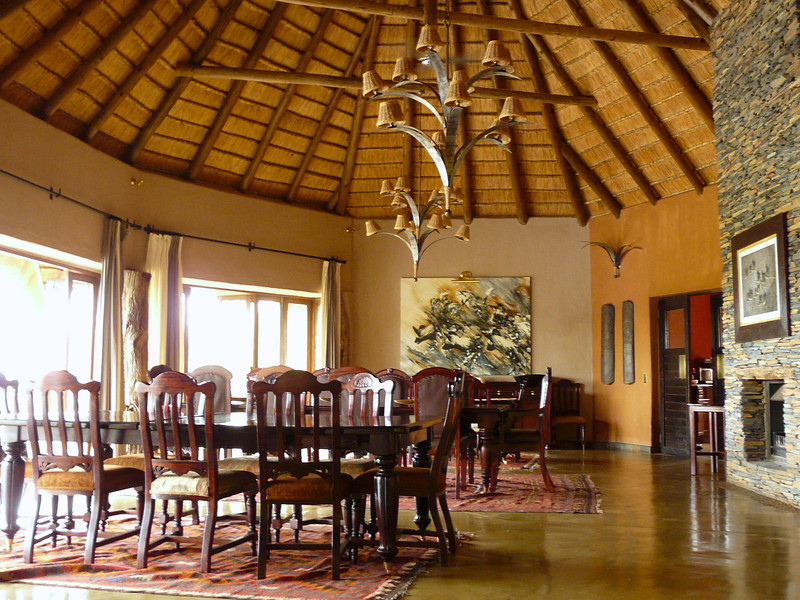 The dining room at Madikwe Hills Private Game Lodge