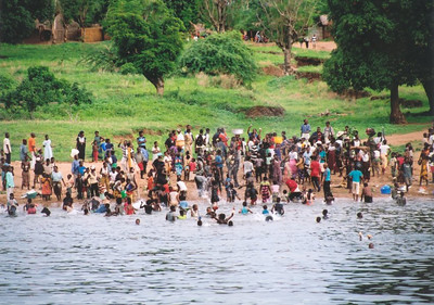 Christmas Day celebrations, Mozambique side of Lake Malawi
