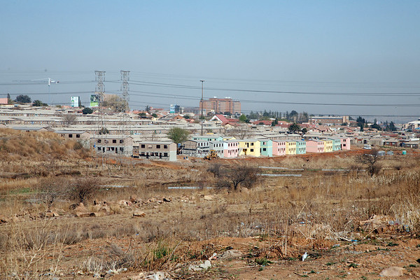 Some of the new buildings erected for Soweto residents.
