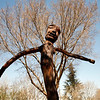 A statue created by stdents in a Soweto park where protesters gahered in their fight against forced Afrikaans in their schools.