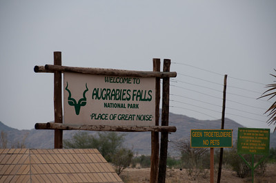 Sign at Augrabies Falls National Park, South Africa