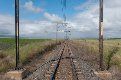 Track of the legendary Blue Train in South Africa