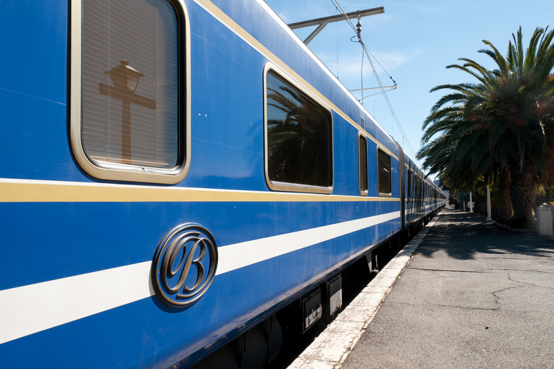 The legendary Blue Train in South Africa