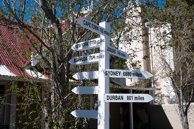 Mileage sign in South Africa