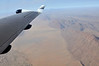 Flying over the Namib desert on the way to Botswana.