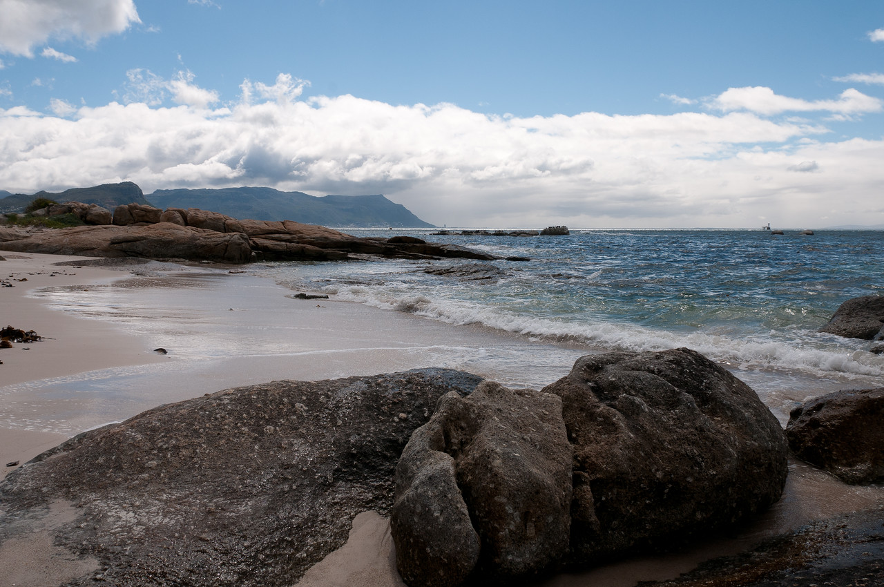 Scenery in Boulders Beach, South Africa