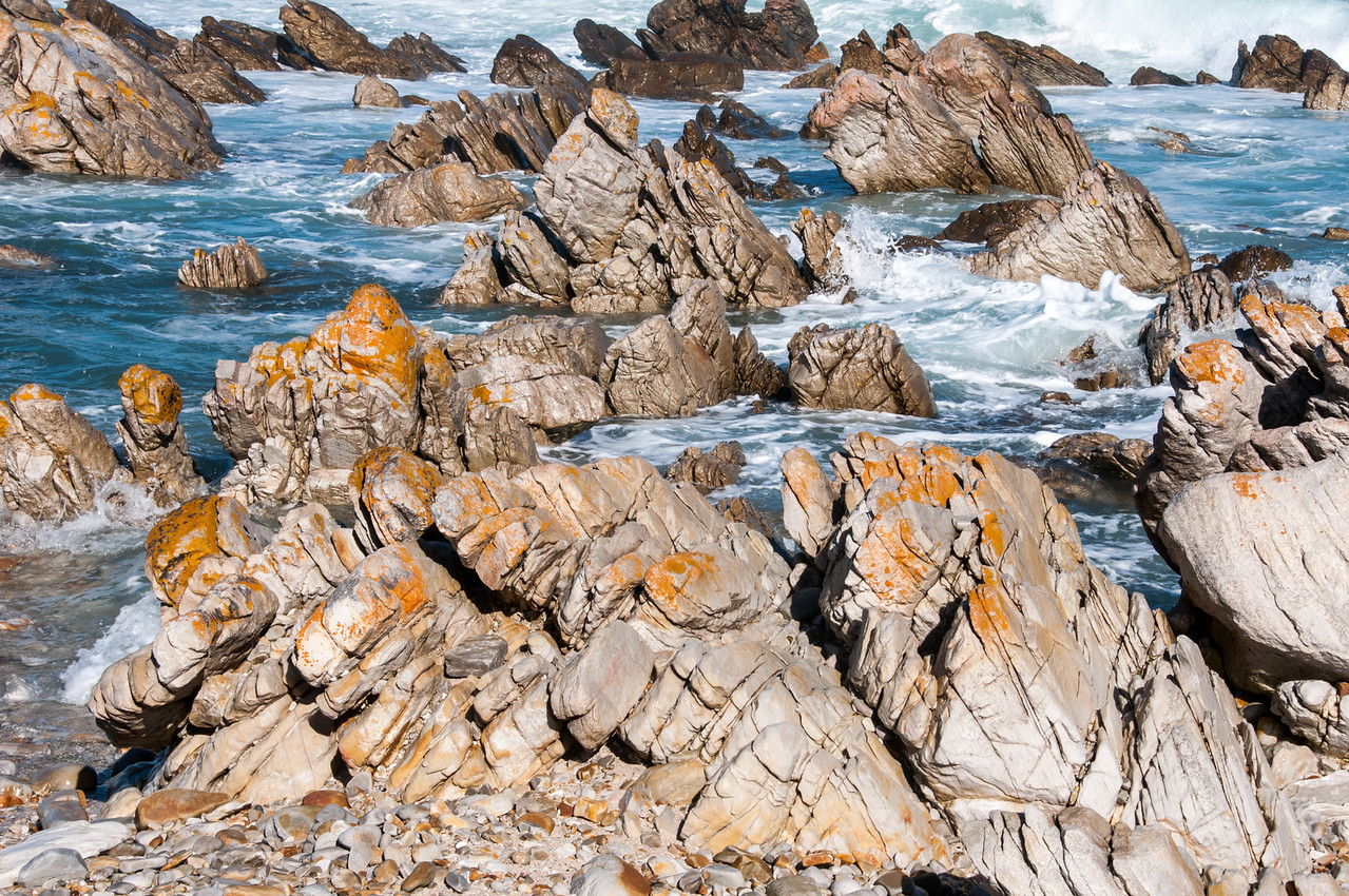 Rocky beach in Cape Agulhas, South Africa
