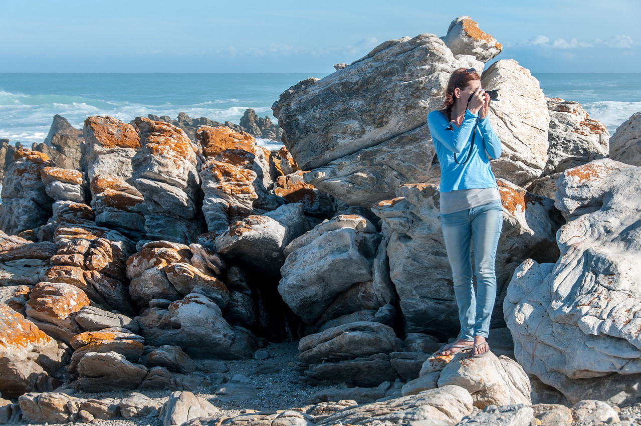 Rocky headlands in Cape Agulhas, South Africa