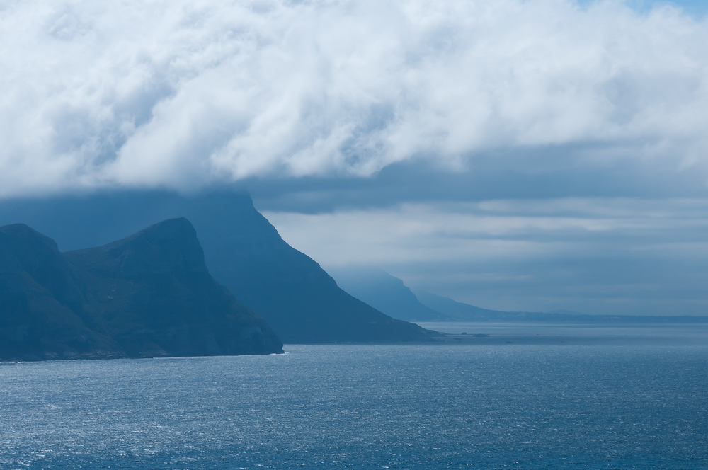 The cliffs and clouds of Cape Point, South Africa
