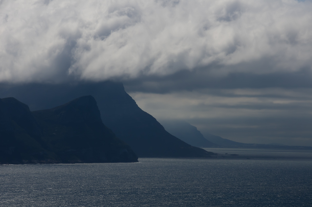 Clouds and Mountains off Cape Point, South Africa