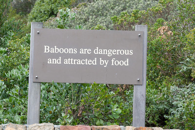 Sign at Cape Point, South Africa