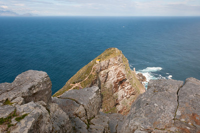 View from the lighthouse in Cape Point, South Africa