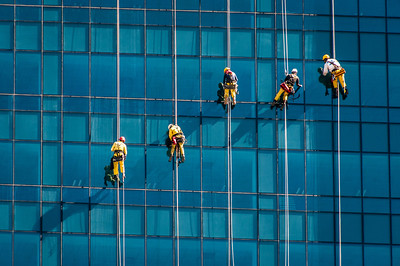 Window washers in Cape Town, South Africa