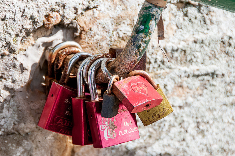 Love locks in Cape Town, South Africa