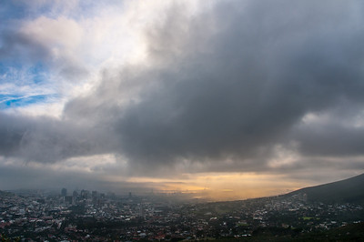 Heavy clouds over Cape Town, South Africa