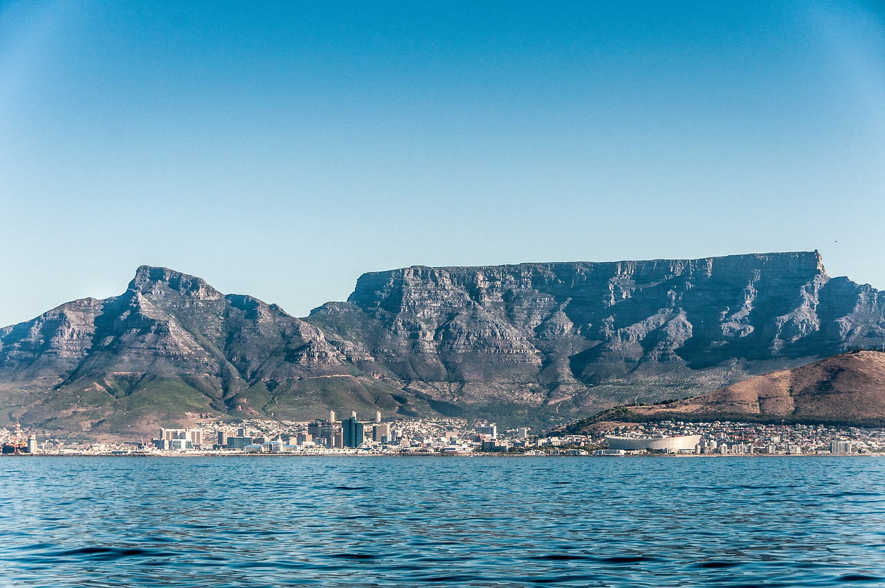 View of Cape Town in South Africa