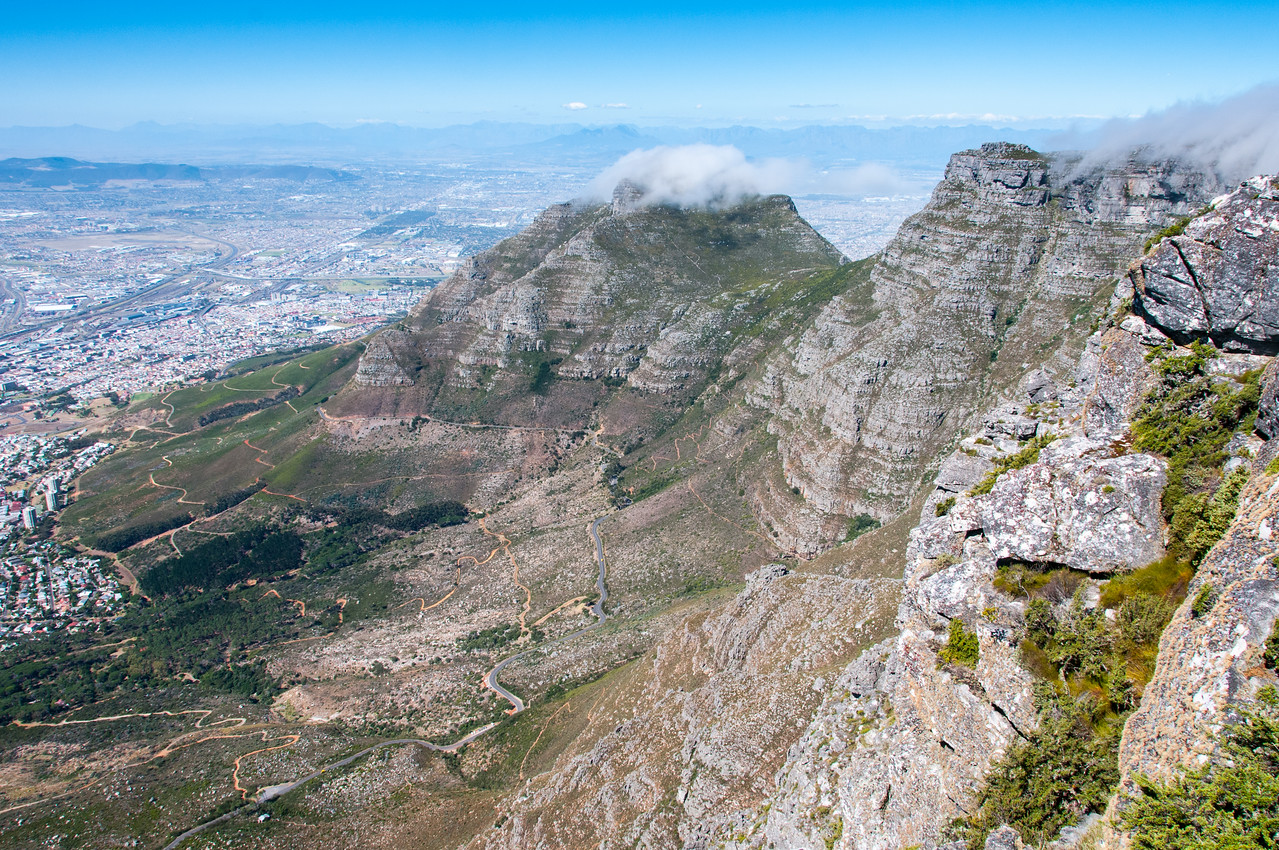 City Bowl as seen from Lion's Head, Cape Town, South Africa