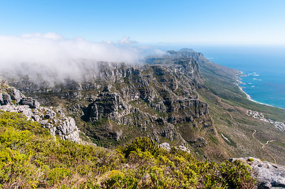 Cliffs as seen from Lion's Head, Cape Town, South Africa