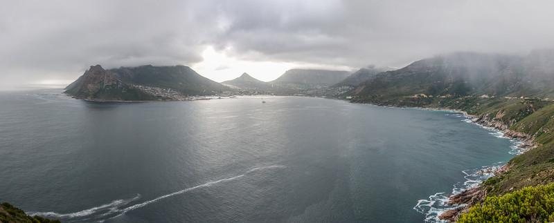Hout Bay as seen from Chapman's Peak in Cape Town
