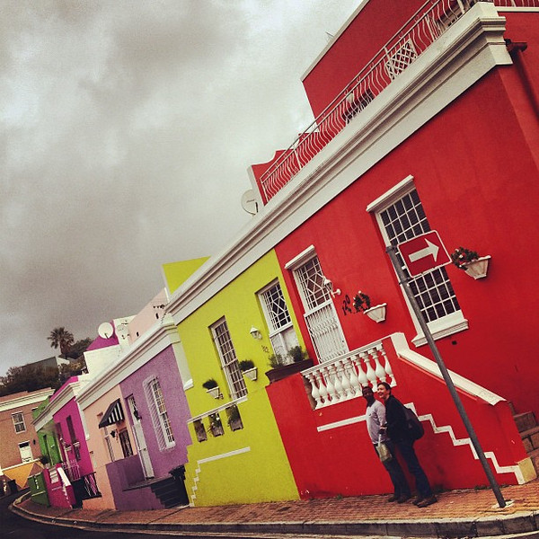 Capturing color and geometry. Bo-kaap neighborhood, Cape Town.