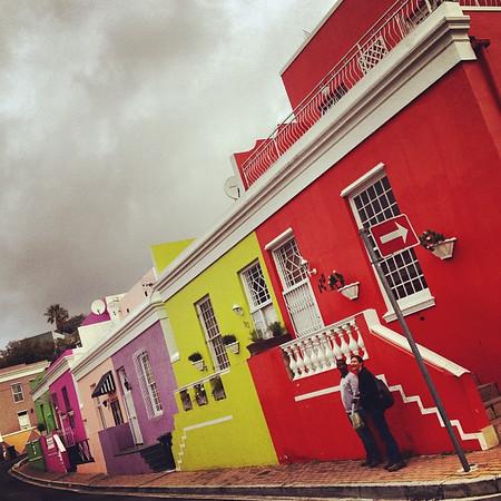 Capturing color and geometry. Bo-kaap neighborhood, Cape Town.