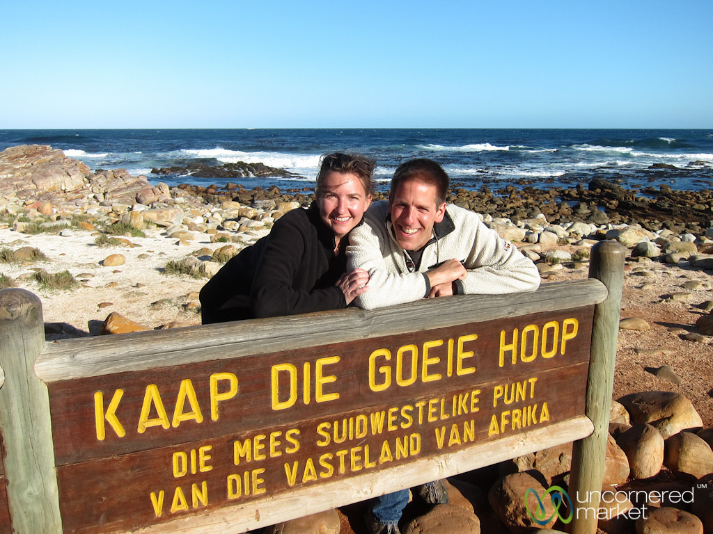 Dan & Audrey at the Cape of Good Hope - Cape Town, South Africa