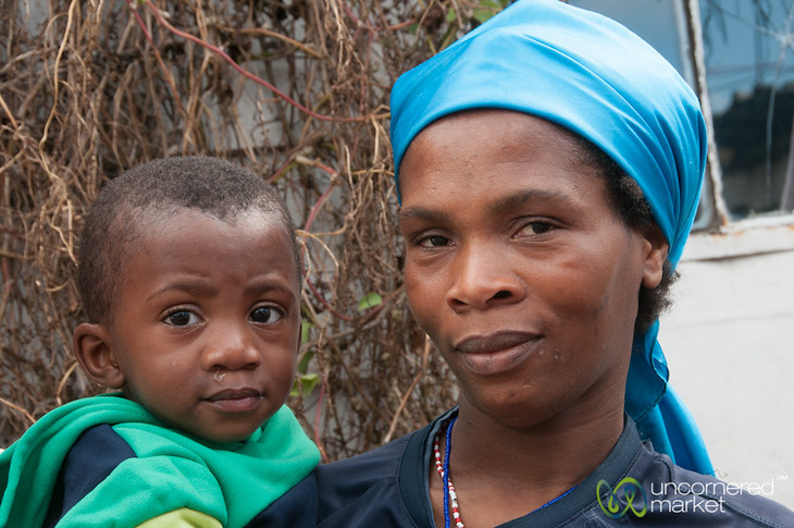 Mother and Son at Masiphumelele Township - Cape Town, South Africa