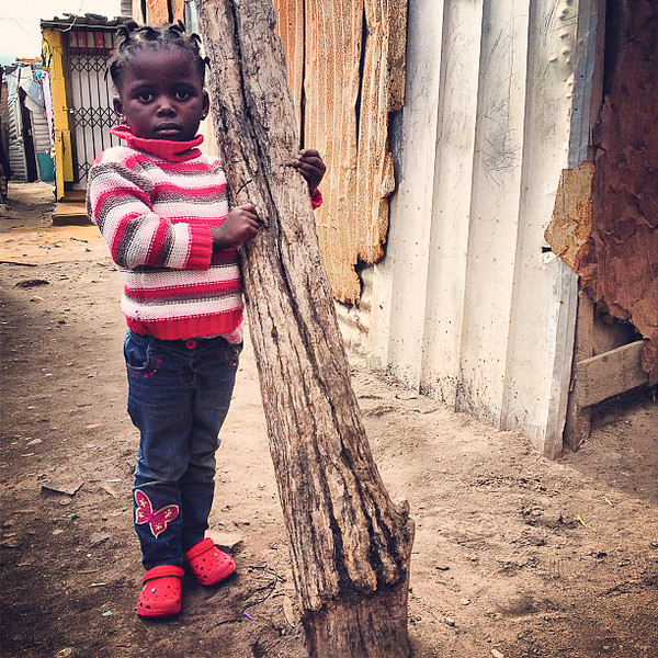Cape Town back streets, sweet kids like this - Masiphumelele Township