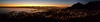 Sunrise view of Cape Town from Signal Hill.  South Africa.  August 2017