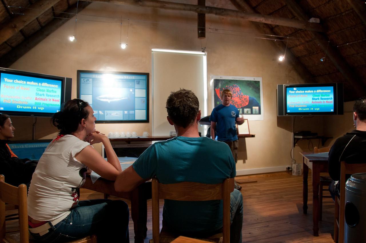 Tour orientation in Hermanus, South Africa