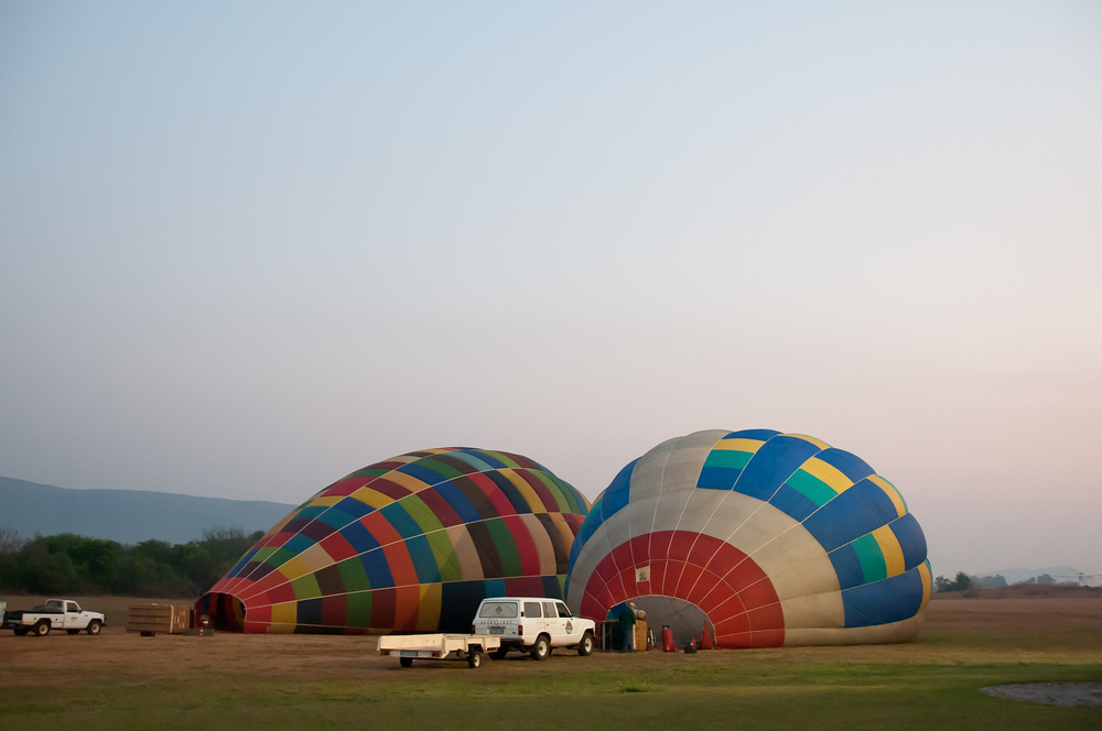 Getting Ready To Go Hot Air Ballooning in South Africa