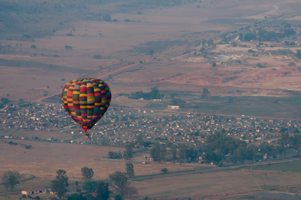 Hot Air Balloon Over South Africa