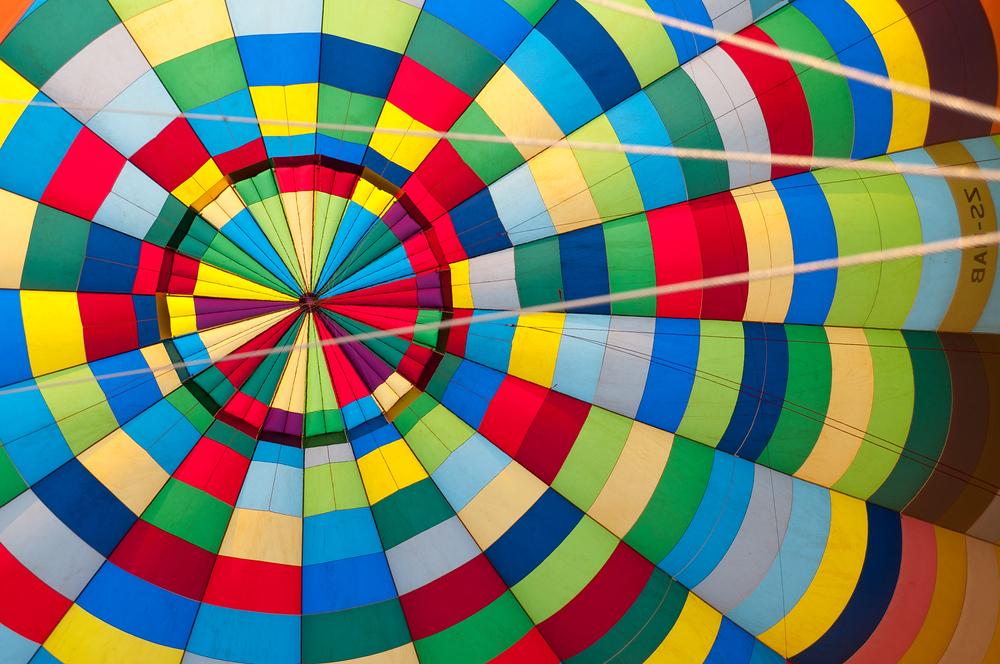 Inside a hot air balloon, South Africa